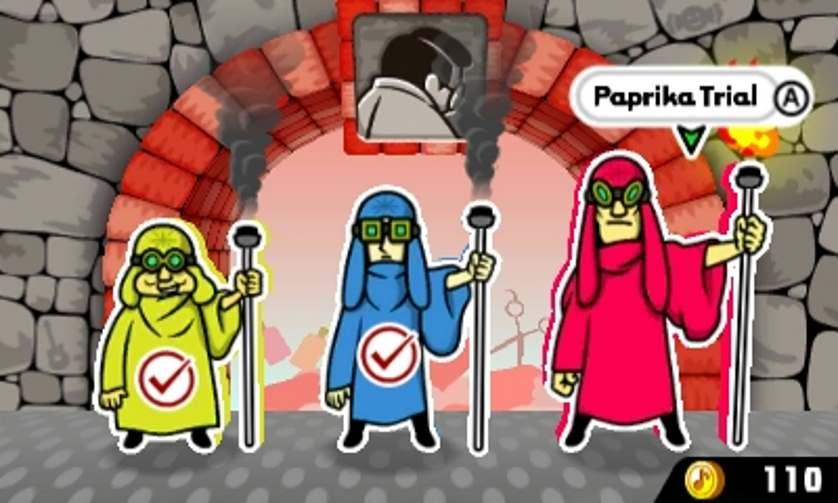 I guardiani dei portali in Rhythm Heaven Megamix. In ordine da sinistra verso destra, Mr. Adagio, Mr. Moderato e Mr. Presto.
