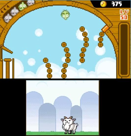 Per nutrire la nostra capra dovremo lanciarle delle rape con un minigioco in stile pachinko.