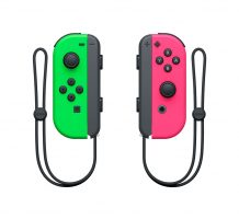 Joy con Neon Green and Pink