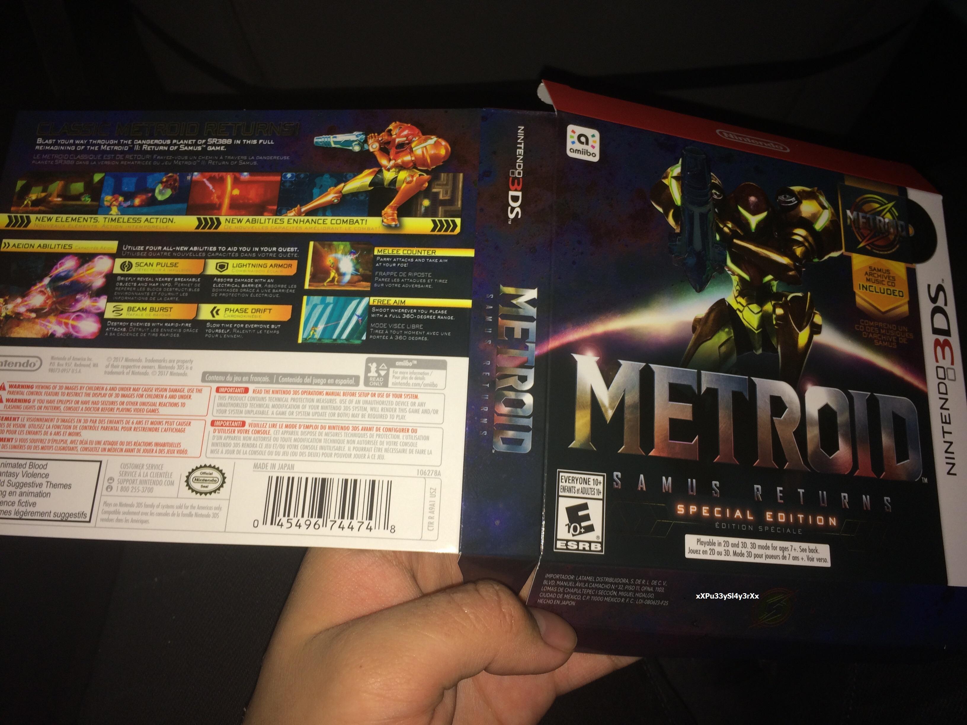 La cover di Metroid: Samus Returns