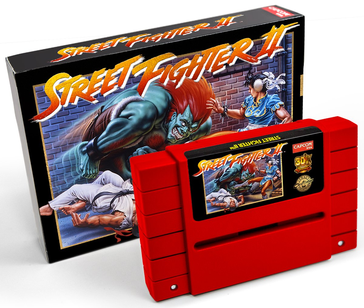 Street Fighter 2 SNES official repro