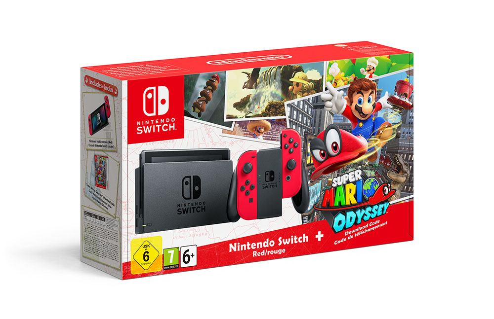 Super Mario Odyssey Switch bundle