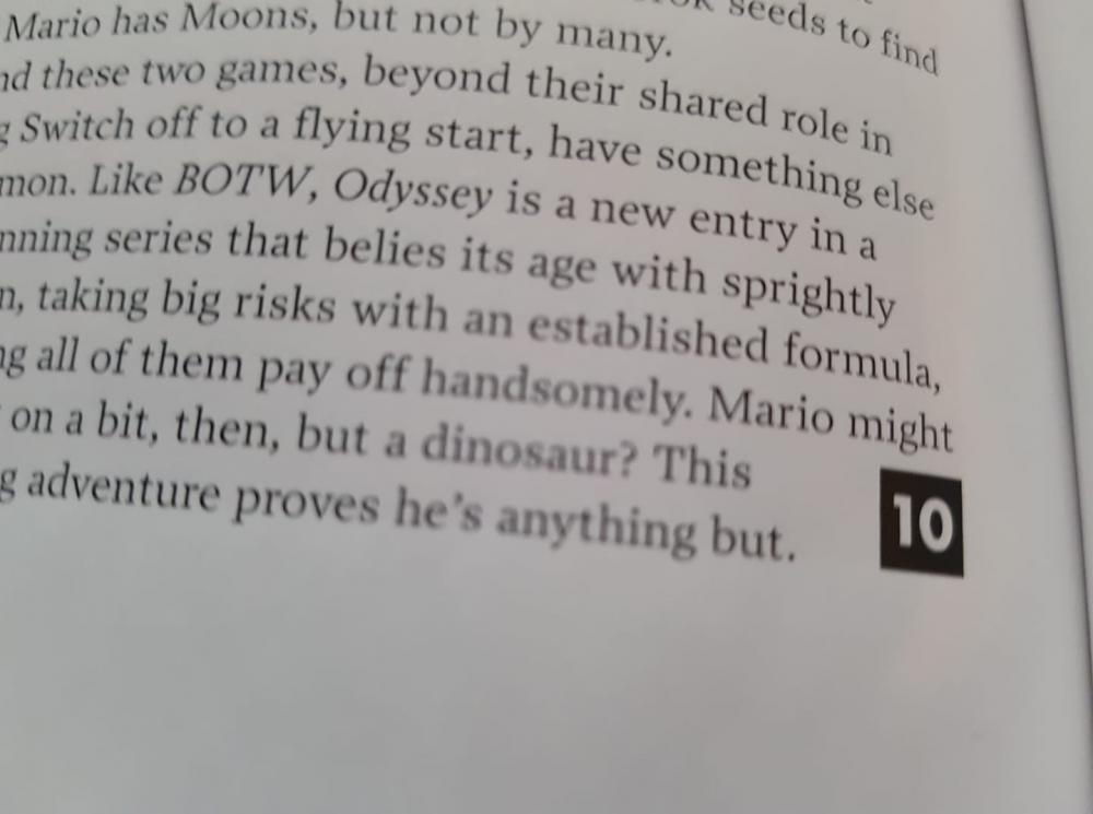 Super Mario Odyssey 10/10 di Edge