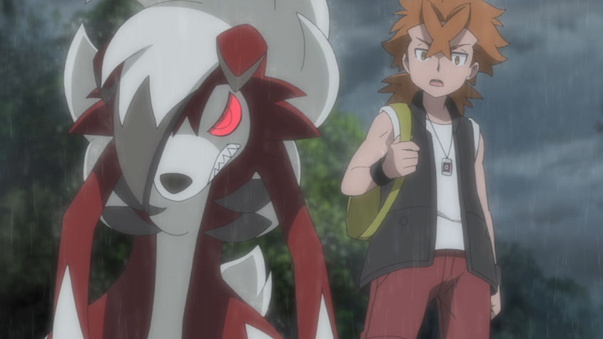 Cross e Lycanroc in Il film Pokémon - Scelgo Te!