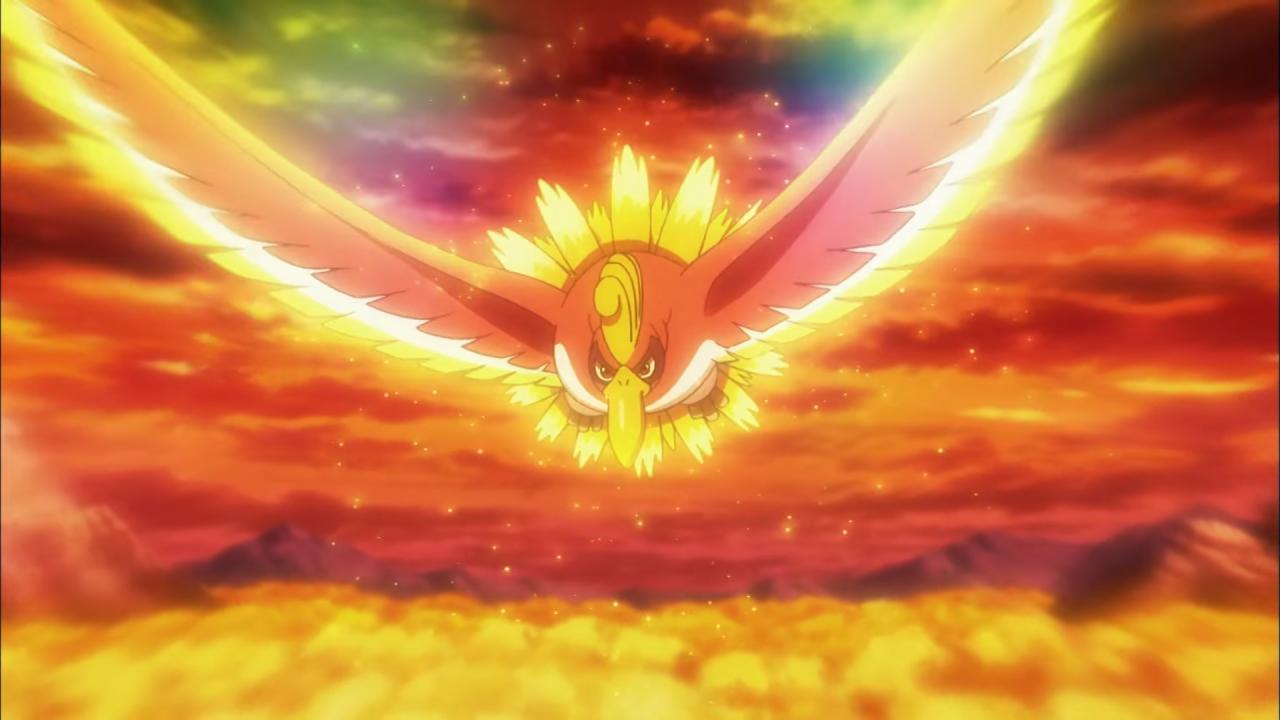 Ho-Oh vola in Il film Pokémon - Scelgo Te!