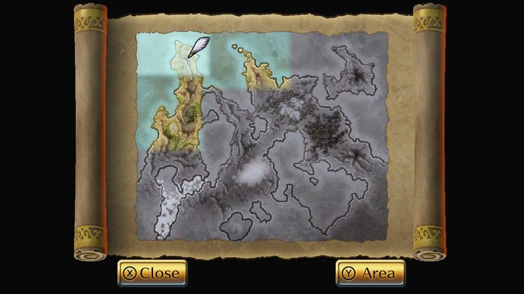 Romancing SaGa 2 Mappa del mondo