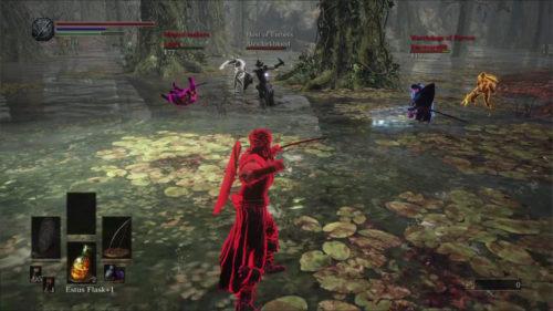 Esempio di interazione multigiocatore in Dark Souls III